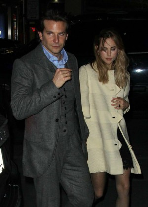 "Suki Waterhouse & Bradley Cooper - Arrives ""The Elephant Man"" After Party in NY"