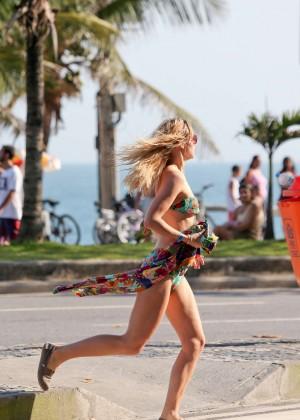 Suki Waterhouse in Floral Bikini -42