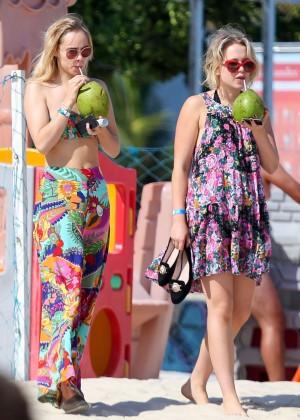 Suki Waterhouse in Floral Bikini -49