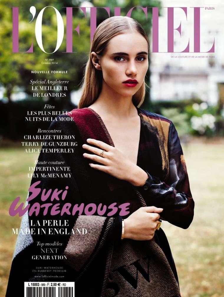 Suki Waterhouse - L'Officiel Paris Magazine Cover (October 2014)