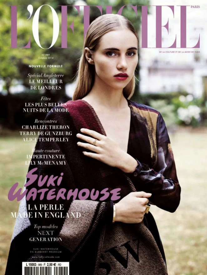 Suki Waterhouse - LOfficiel France Magazine (October 2014)