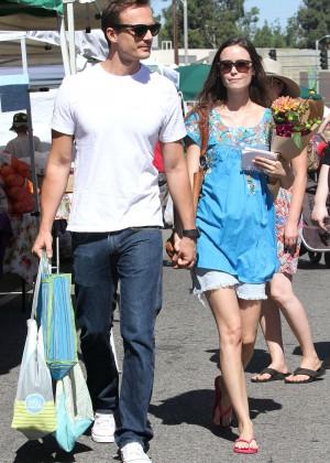 Summer Glau - Shopping at the Farmers Market in LA