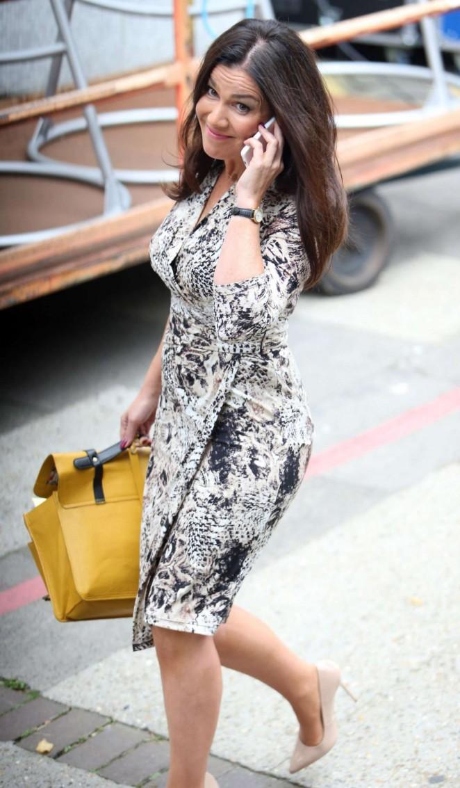 Susanna Reid in Tight Dress Leaving the London Studios