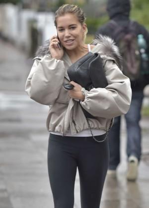 Sylvie Meis in Tight Leggings Out in Hamburg