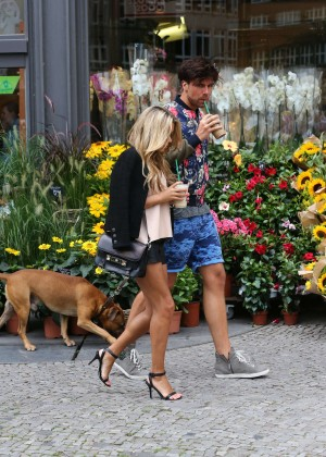 Sylvie Meis in Leather Shorts -01