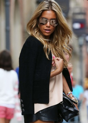 Sylvie Meis in Leather Shorts -02