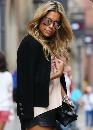 Sylvie Meis in Leather Shorts -08