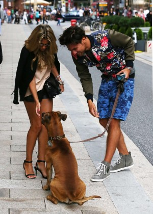 Sylvie Meis in Leather Shorts -10