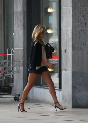 Sylvie Meis in Leather Shorts -11