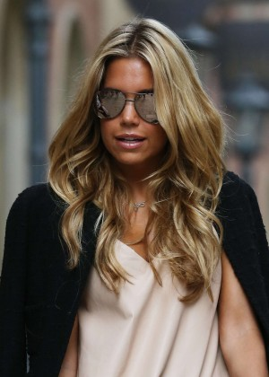 Sylvie Meis in Leather Shorts -12