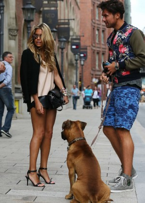 Sylvie Meis in Leather Shorts -13