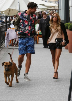 Sylvie Meis in Leather Shorts -16