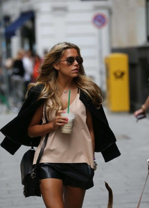 Sylvie Meis in Leather Shorts -17