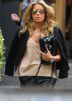 Sylvie Meis in Leather Shorts -19