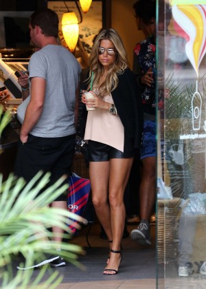 Sylvie Meis in Leather Shorts -20
