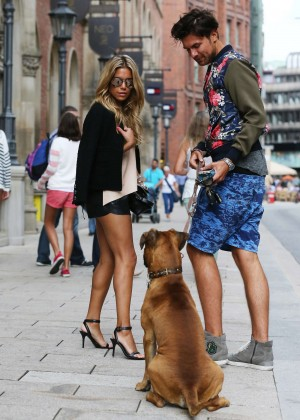 Sylvie Meis in Leather Shorts -23