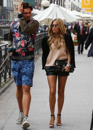 Sylvie Meis in Leather Shorts -24