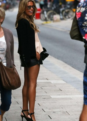Sylvie Meis in Leather Shorts -29