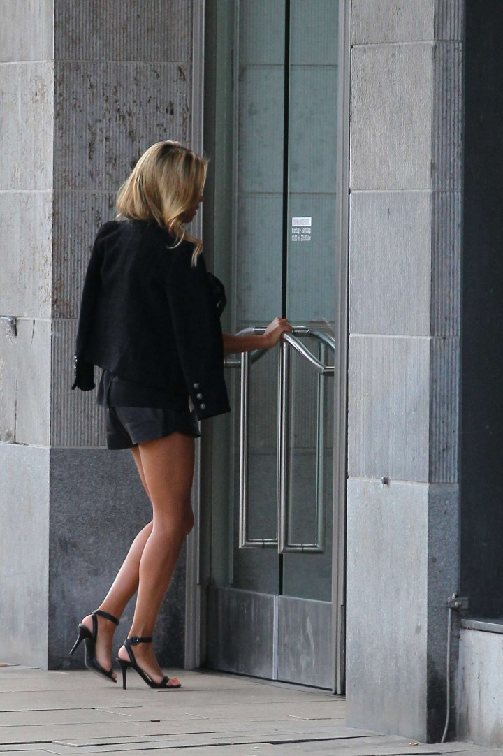 Sylvie Meis in Leather Shorts -30