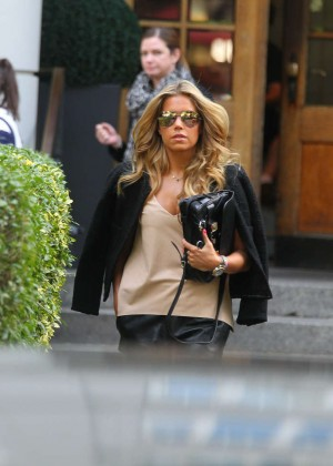 Sylvie Meis in Leather Shorts -31