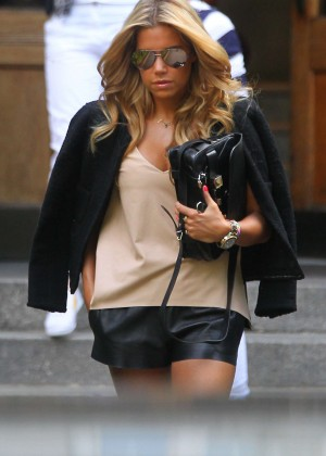 Sylvie Meis in Leather Shorts -32