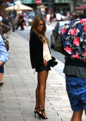 Sylvie Meis in Leather Shorts -33