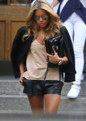 Sylvie Meis in Leather Shorts -34