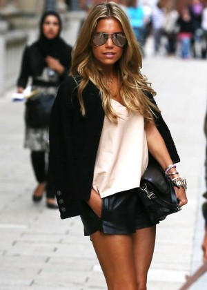 Sylvie Meis in Leather Shorts -35