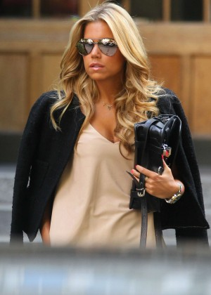 Sylvie Meis in Leather Shorts -36