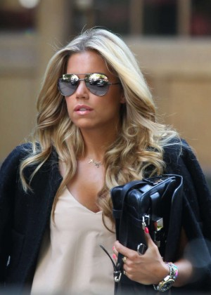 Sylvie Meis in Leather Shorts -37