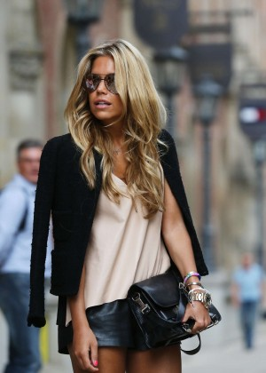 Sylvie Meis in Leather Shorts -38