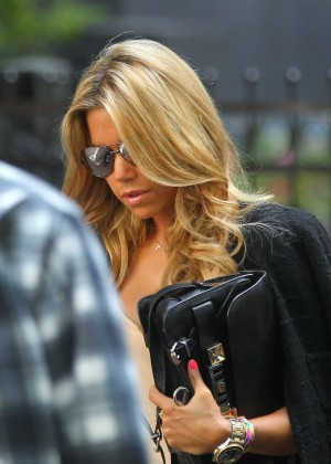 Sylvie Meis in Leather Shorts -39