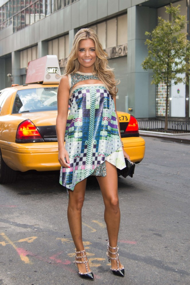 Sylvie van der Vaart in Mini Dress at W Hotel Times Square in New York