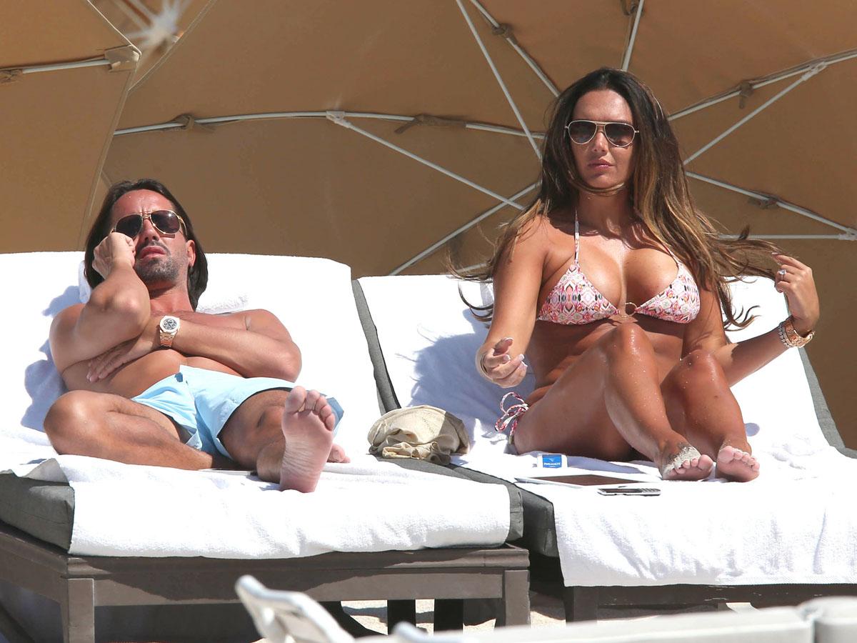 Tamara Ecclestone 2013 : Tamara Ecclestone In pink bikini In Miami -10