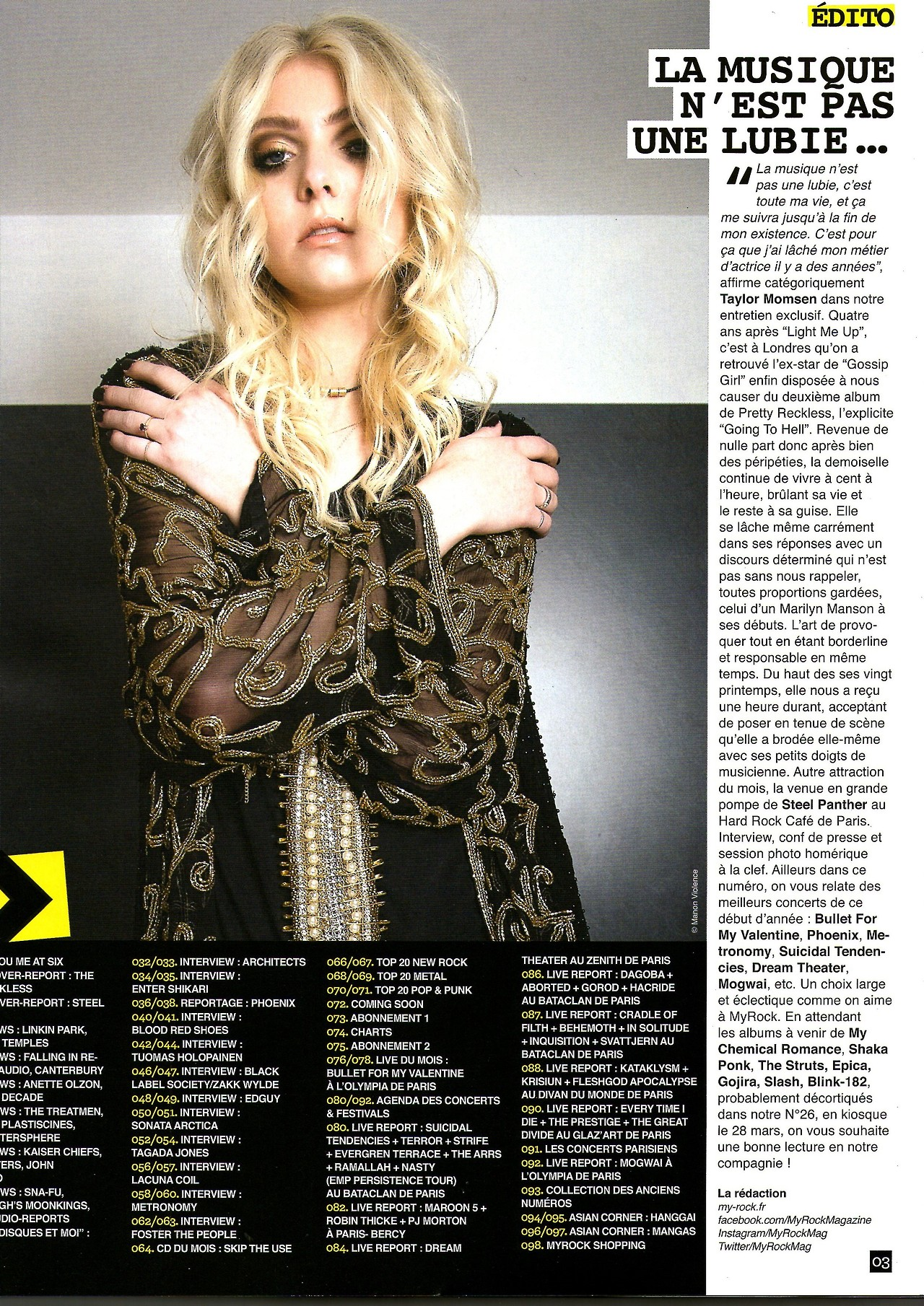 Taylor Momsen 2014 : Taylor Momsen: MyRock Magazine -01