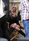 Taylor Momsen - on the set of a music video in NYC -27