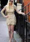 Taylor Momsen - Leggy On The Set Of GOSSIP GIRL in New York