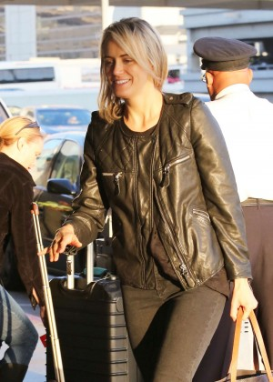 Taylor Schilling in Tight Pants at LAX Airport