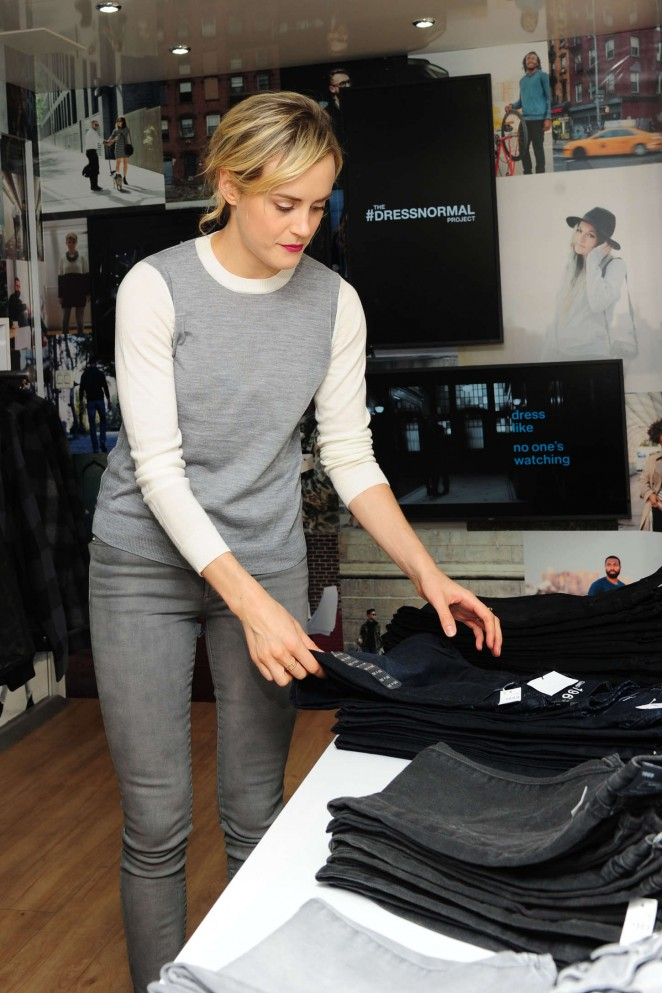 Taylor Schilling at Gap's #DressNormal Project in Brooklyn