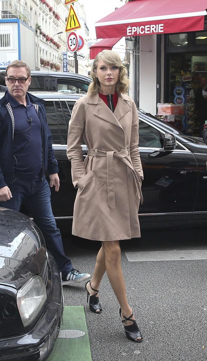 Taylor Swift at Europe 1 Radio Station in Paris