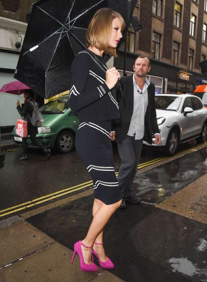Taylor Swift at KISS FM Studios In London
