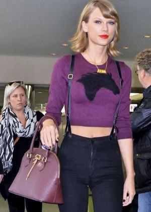 Taylor Swift at Narita International Airport in Tokyo
