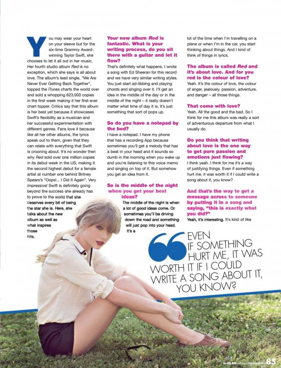 Taylor Swift – Cleo Magazine (Feb 2013)