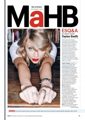Taylor Swift - Esquire US Magazine (November 2014)