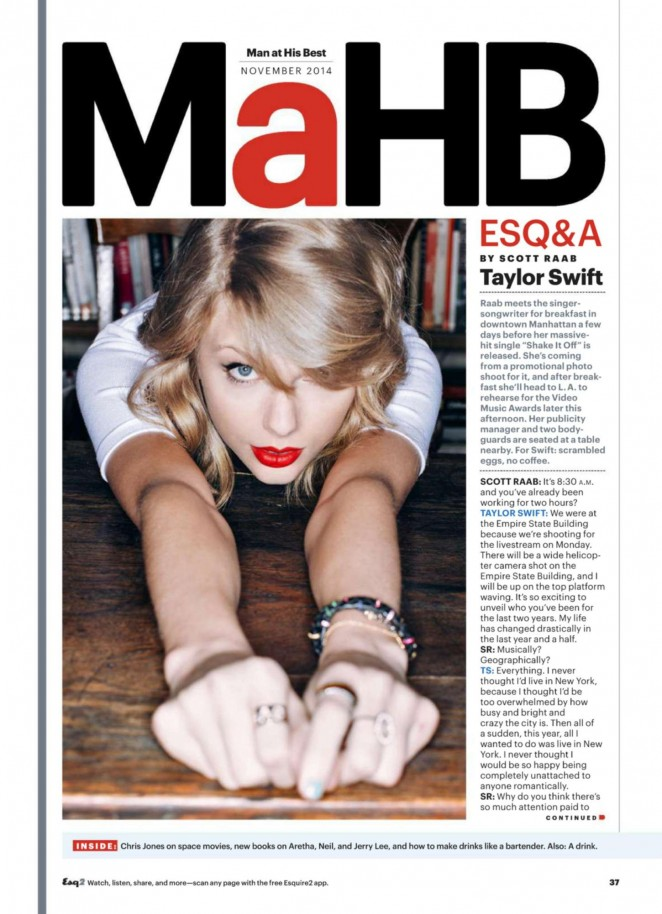 Taylor Swift - Esquire US Magazine (November 2014)