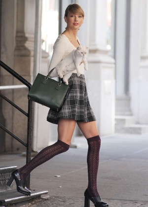 Taylor Swift in MIni Skirt out in NYC