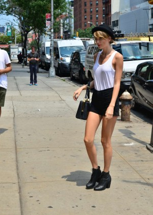 Taylor Swift in Tank top and shorts -03