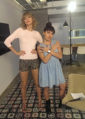 Taylor Swift in Shorts at Radio/Televsion Promo Pics in Australia