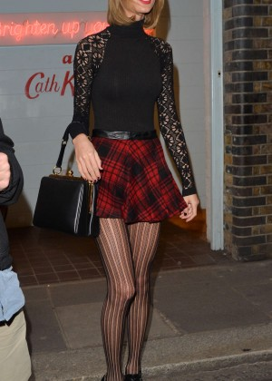 Taylor Swift in Mini Skirt at Cath Kidston -02