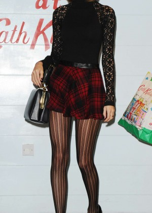 Taylor Swift in Mini Skirt at Cath Kidston -06